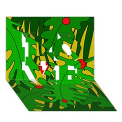 In The Jungle Love 3d Greeting Card (7x5)