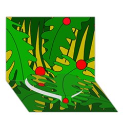 In the jungle Heart Bottom 3D Greeting Card (7x5)