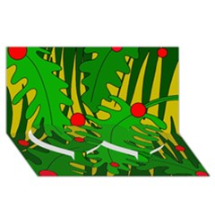 In the jungle Twin Heart Bottom 3D Greeting Card (8x4)