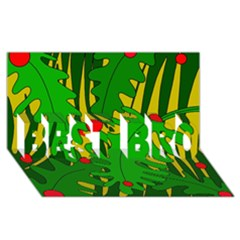 In the jungle BEST BRO 3D Greeting Card (8x4)
