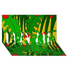 In the jungle BEST SIS 3D Greeting Card (8x4)