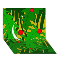 In the jungle Circle 3D Greeting Card (7x5)