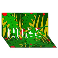 In the jungle HUGS 3D Greeting Card (8x4)