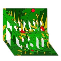 In the jungle THANK YOU 3D Greeting Card (7x5)
