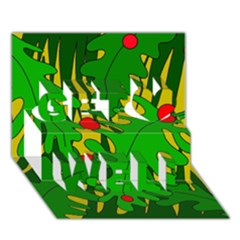 In the jungle Get Well 3D Greeting Card (7x5)