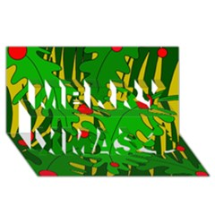 In the jungle Merry Xmas 3D Greeting Card (8x4)