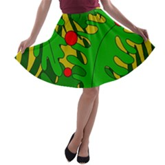In the jungle A-line Skater Skirt