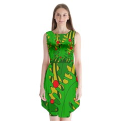 In the jungle Sleeveless Chiffon Dress