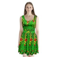 In the jungle Split Back Mini Dress
