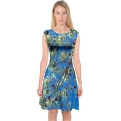 Scots Pine Capsleeve Midi Dress
