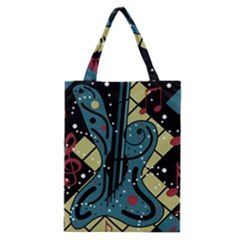 Playful guitar Classic Tote Bag