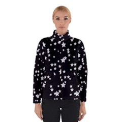 Black and White Starry Pattern Winter Jacket