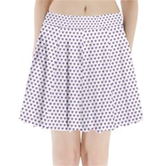 Purple Small Hearts Pattern Pleated Mini Skirt
