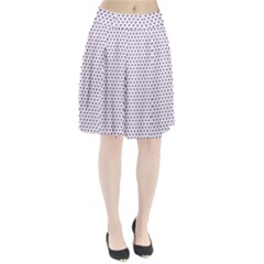 Purple Small Hearts Pattern Pleated Skirt