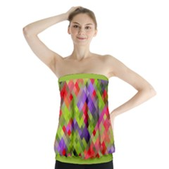 Colorful Mosaic Strapless Top