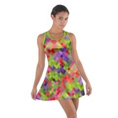 Colorful Mosaic Cotton Racerback Dress