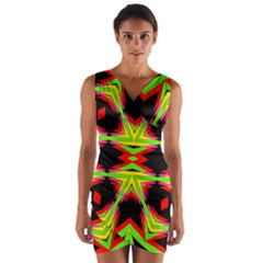Gtgt Wrap Front Bodycon Dress