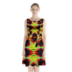 Gtgt Sleeveless Chiffon Waist Tie Dress