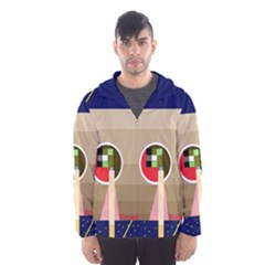 Decorative abstraction Hooded Wind Breaker (Men)