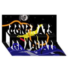 Crazy dream Congrats Graduate 3D Greeting Card (8x4)