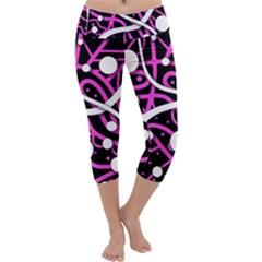 Purple harmony Capri Yoga Leggings