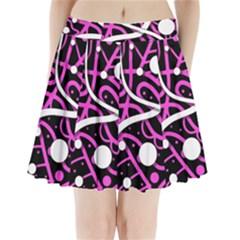 Purple harmony Pleated Mini Skirt