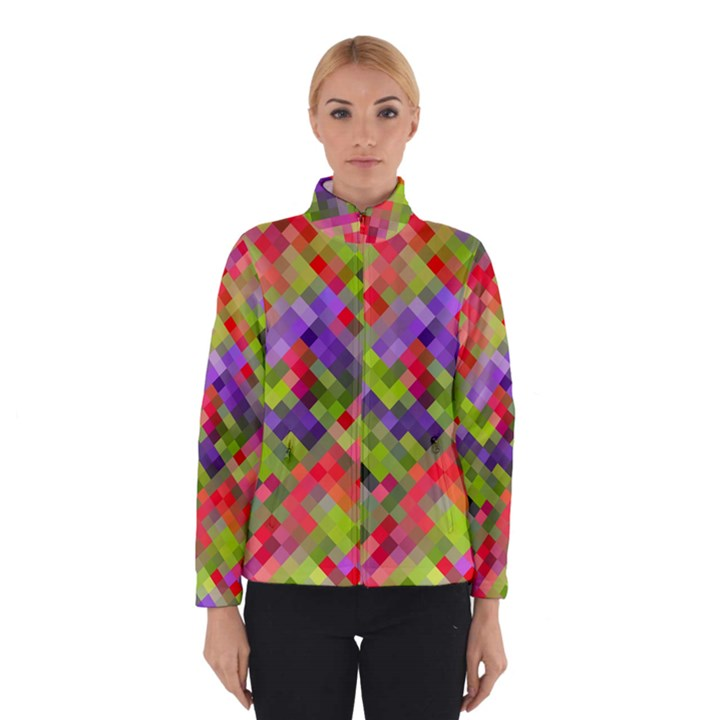 Colorful Mosaic Winter Jacket