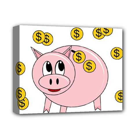 Piggy bank  Deluxe Canvas 14  x 11