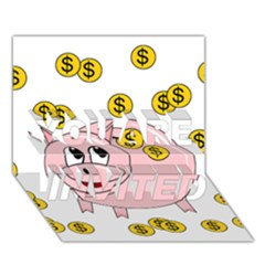 Piggy bank  YOU ARE INVITED 3D Greeting Card (7x5)