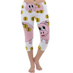 Piggy bank  Capri Yoga Leggings
