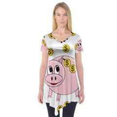 Piggy bank  Short Sleeve Tunic
