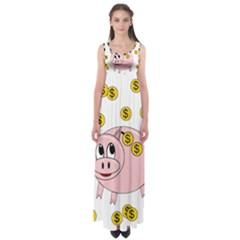 Piggy bank  Empire Waist Maxi Dress