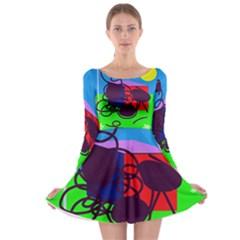 Sunny day Long Sleeve Skater Dress
