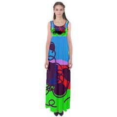 Sunny day Empire Waist Maxi Dress