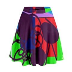 Sunny day High Waist Skirt