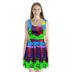 Sunny day Split Back Mini Dress