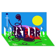 Sunny day BEST BRO 3D Greeting Card (8x4)