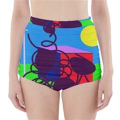 Sunny day High-Waisted Bikini Bottoms