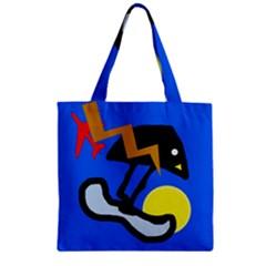 Little bird Zipper Grocery Tote Bag