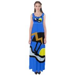 Little bird Empire Waist Maxi Dress