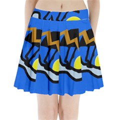 Little bird Pleated Mini Skirt