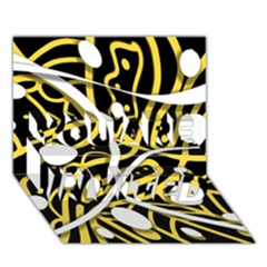 Yellow movement YOU ARE INVITED 3D Greeting Card (7x5)