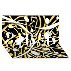 Yellow movement #1 DAD 3D Greeting Card (8x4)