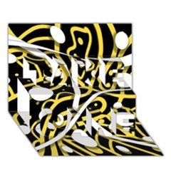 Yellow movement TAKE CARE 3D Greeting Card (7x5)