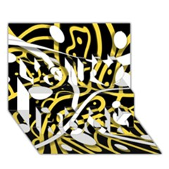 Yellow movement You Rock 3D Greeting Card (7x5)
