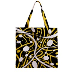 Yellow movement Zipper Grocery Tote Bag