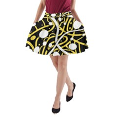 Yellow Movement A Line Pocket Skirt