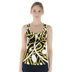 Yellow movement Racer Back Sports Top