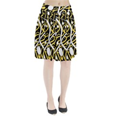 Yellow movement Pleated Skirt