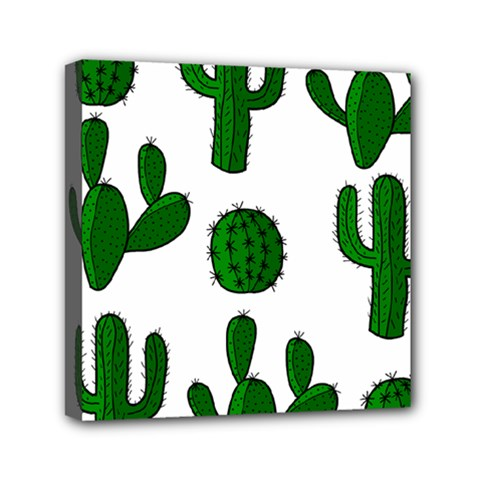 Cactuses pattern Mini Canvas 6  x 6